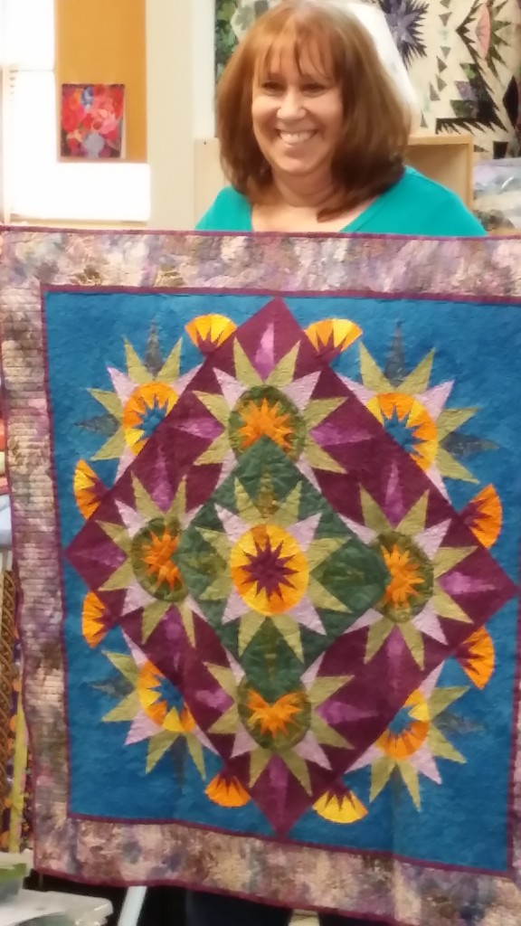 "Carol's first Judy Niemeyer quilt ""Arizona Cactus"" made in 2013."
