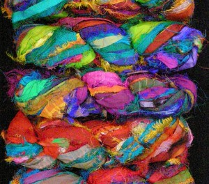 Colorful Silk Sari Ribbon $15